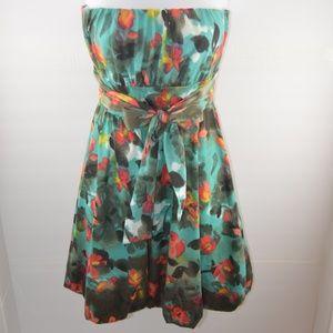 American Rag Cie Strapless Floral Dress